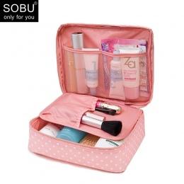 SOBU Wodoodporna Przenośne Zamek Kosmetyczka dot piękna Sprawa Makijaż Tas Kiesy Organizator Bagażu Podróży Mycia Etui K1049