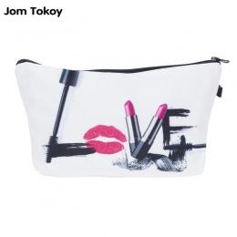 Jom Tokoy Moda Marka kosmetyczne organizator torba 3D Drukarnie Kobiety Podróży Przypadku Makijażu Przenośne Torby Kosmetycznych