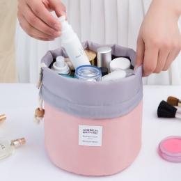 Nie Przegap Drop ship sznurek w kształcie beczki kobiety kosmetyczka Wysokiej jakości makijaż organizator przechowywania torby P