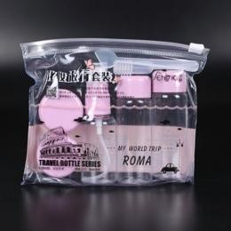 7 sztuk/zestaw Podróży Mini Makijaż Kosmetyki Krem Do Twarzy Pot Butelki Plastikowe Przezroczyste Puste Eyeshadow Uzupełnić Poje