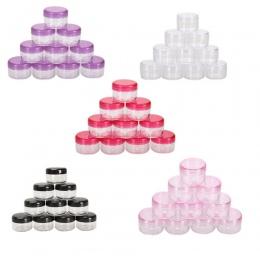 10 SZTUK Pole Makijaż Kosmetyki Jar Cream Nail Art Kosmetyki Paciorek Pot Pojemnik Do Przechowywania Okrągłe Butelki Przenośne P