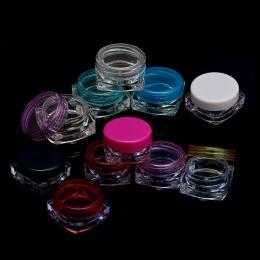 10 Sztuk przejrzyste małe kwadratowe butelki 5g Kosmetyczne Pusty Słoik Pot Eyeshadow Balsam Krem Do Twarzy Próbki Pojemnik