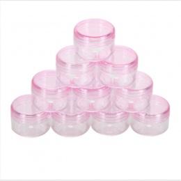 5 Sztuk Pusty Pojemnik Kosmetyczny Plastikowe Jar Pot Eyeshadow Makijaż Podróż Pole Twarzy Krem Balsam Butelki Wielokrotnego Nap