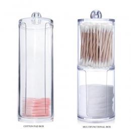 2018 Nowy Bawełna Wymazy Stick Jasne Przechowywania Akrylowy Holder Box Przejrzyste Kosmetycznych Makijaż Organizator Case Wysok