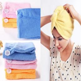 2017 NOWYCH Kobiet Chłonna Mikrofibra Suszenia Włosów Czepki kąpielowe Szlafrok Ręcznik Turban Kapelusz wielu kolorach Okłady Wł
