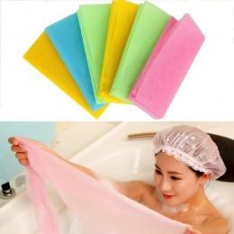 Gorący Złuszczający Nylonu Wanna Prysznic Ciała Czyszczenie Mycie Szorowanie Cloth Ręcznik Gąbki i Płuczek