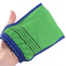 Wysoka Jakość 1 pc Losowy Kolor Prysznic Spa Exfoliator dwustronny Wanna Glove Czyszczenia Ciała Peeling Mitt Rub Dead do Usuwan