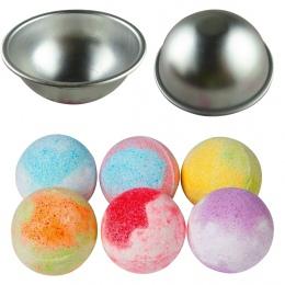 5.5*2.5 cm 1 pc Stopu Aluminium Płytkie Półkole Wanna Bomba Mini 3D Kula Kształt DIY Spa Narzędzia Akcesoria sól Ball Metal Form