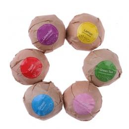 6 sztuk Naturalne produkty Do Kąpieli Kąpiel Bomby Olejek Handmade Złuszczający SPA Stress Relief Mięty Lawendy Wzrosła Smak