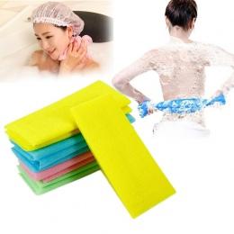 Nowy 1 sztuk Nylon Złuszczający Wanna Prysznic Ciała Mycie Czyszczenie Szorowania Ręcznik Płuczki Losowy Kolor Ciała Czyszczenia