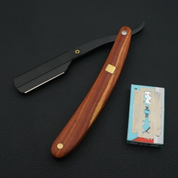Litego drewna uchwyt fryzjer cut hair maszynka do golenia razor, profesjonalny fryzjer Włosów noże razors zmienić ostrze typu nó