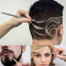 Nowy profesjonalne magia Brwi Razor broda Wióry włosów nożyczki wygrawerować carve pióro Tatuaż fryzjer nożyce fryzjerskie nożyc