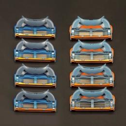 Wzrost Jakości 4 sztuk/paczka 5 + 1 Warstwy męska Golenie Golenia Razor Blades Kompatybilny dla Gillettee Fusione Kasety