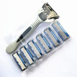 Oryginalny 7 sztuk/zestaw 1 Maszyna + 6 Wymienne Ostrza Najlepiej Do Golenia dla mężczyzn Shaver Razor Blades Hot Standardowy Ro