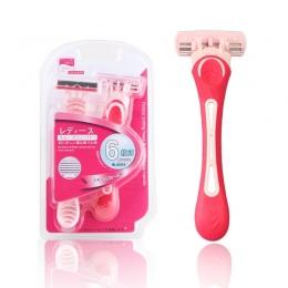 Wysokiej jakości 2 sztuk/partia Kobiety Razor Blade Instrukcja Golenia ostrza Fryzjer Dla Bikini Ciało Twarz Pod Pachami depilac