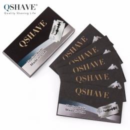 Qshave TO Double Edge Bezpieczeństwo Razor Blade Klasyczne Bezpieczeństwo Razor Blade Prosto Razor Tytanu Ostrze Wykonane w USA,