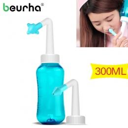 Dorośli Dzieci Neti Pot Standardowy Nosa Nosa Mycia Jogi Detox Sinus Alergie Ulga Spłukać 300 ml 1 zestaw Nos Czyszczenia maszyn