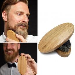 Naturalnego Włosia Dzika Broda Szczotka Dla Mężczyzn Bambusa Twarzy Masaż, Który Działa Cuda Do Brody i Mustache Grzebień darmow