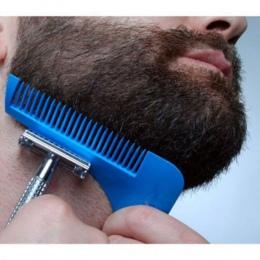 Nowy Gorący Mężczyzna Przydatne Pro Beard Golenia Kształtowanie Narzędzia Grzebień dla Doskonałe Linie Symetria profesjonalne Li
