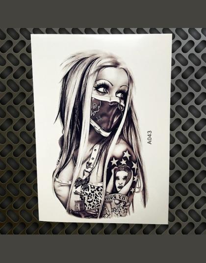 Czarny Diament Geometria Sowa Tymczasowa Naklejka Tatuaż Kobiety Fałszywe Henna Wodoodporna Tatuaż Naklejki 2115 Cm Kryształ Bo
