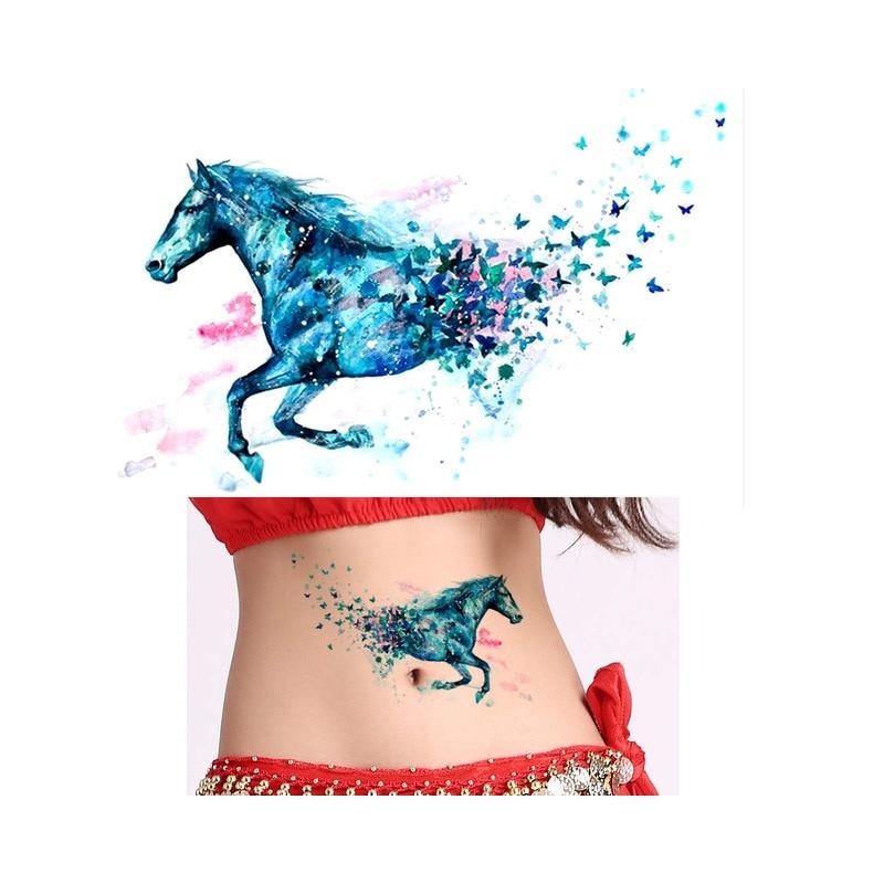 Naklejki Wodoodporne Tymczasowy Tatuaż Kolorowy Zwierzęta