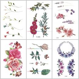 Wyuen Kwiat Róży Wodoodporna Tymczasowa Naklejka Tatuaż dla Dorosłych Dzieci Body Art Kobiet Nowy Projekt Transferu Wody Fałszyw