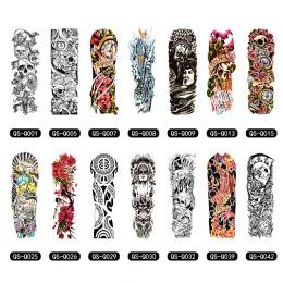 Tymczasowe Tattoo Rękaw Wzory Pełna Arm Wodoodporna Tatuaże Dla Fajnych Kobiet Mężczyzn Zbywalne Tatuaże Naklejki Na Ciało Sztuk