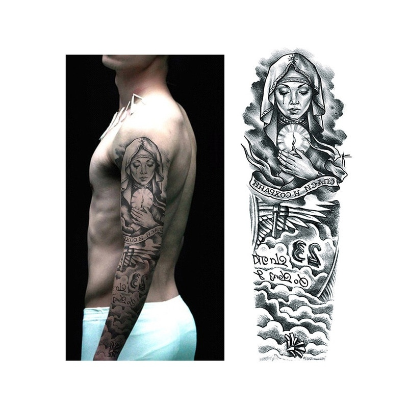 Tymczasowe Tatuaże Zmywalne Rękaw Dużo Wzorów Wodoodporne