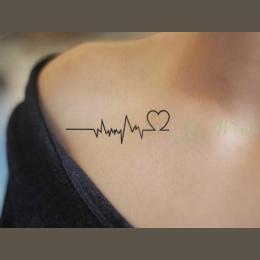 Wodoodporna Tymczasowe Tattoo Naklejka ciała Miłość fala tatuaż mały rozmiar tatto naklejki flash tatoo fałszywy tatuaże dla dzi