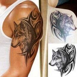 Nowa Gorąca Woda Transferu fałszywy tatuaż Wodoodporna Tymczasowa naklejka Tatuaż mężczyźni kobiety wilk flash tatuaż tatuaż