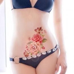 1 pc Nowy Wymienny Mody Kobiety Lady 3D Kwiaty Wodoodporna Tymczasowe Tattoo Naklejki Uroda Body Art Łatwe Zużycie I Łatwe czyst