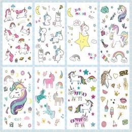 Rocooart Cartoon Unicorn Tatuaż Dla Dzieci Śliczne Fałszywy Taty Dzieci Tatouage Temporaire Body Art Wodoodporna Tymczasowa Nakl