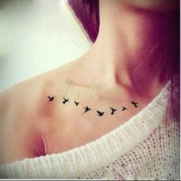 Wodoodporna Tymczasowa Naklejka Tatuaż latać ptaki syrenka sowa deer mandala naklejki flash tatoo tatto fałszywe tatuaże dla kob