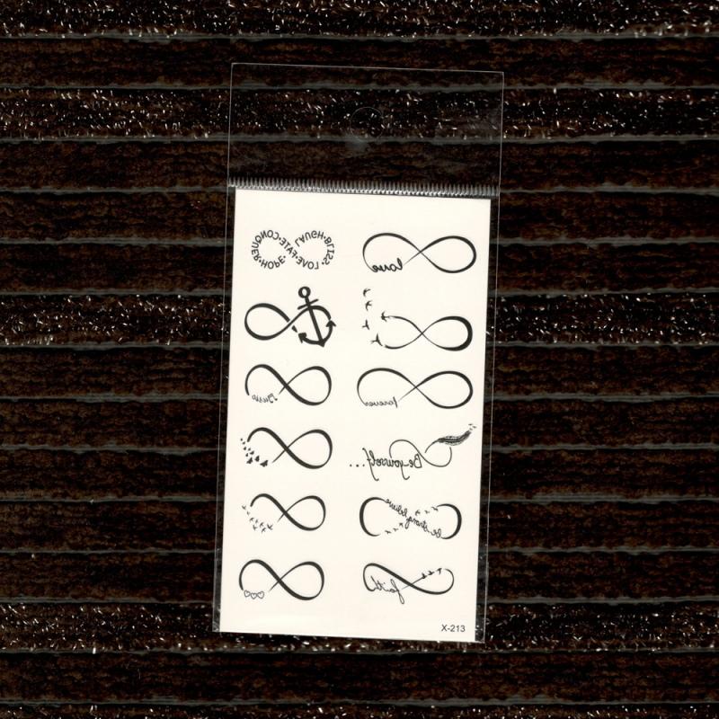 Czarna Linia Fałszywe Tatuaże Jednorazowe Wodoodporne