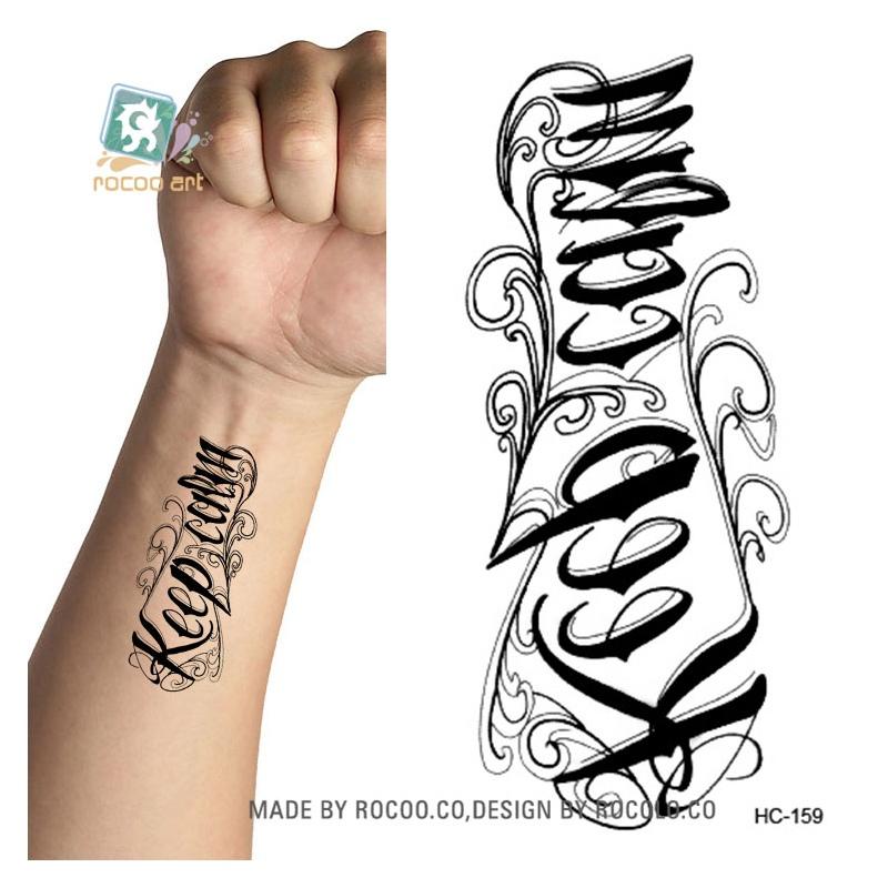 Rocooart Hc151 175 Wodoodporna Fałszywy Tatuaż Styling Tools