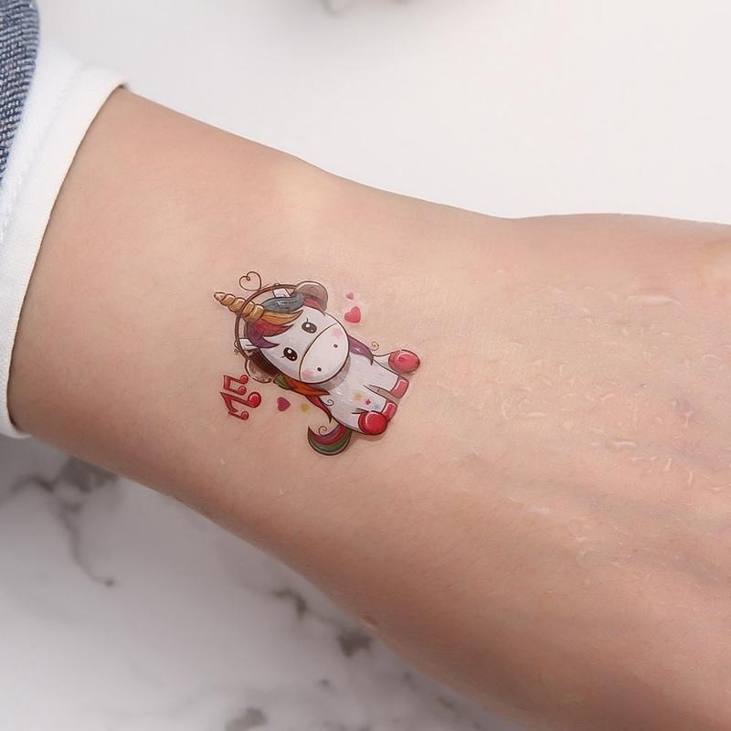 1 Sztuk Cartoon Jednorożec Tatuaż Dla Dzieci śliczne