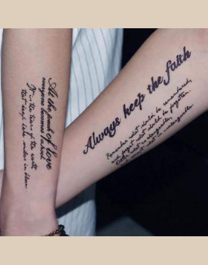 Tymczasowy Tatuaż Dla Kobiet Seksowy Sexy Fałszywy Rękaw Body Art Wodoodporne Naklejki Angielskie Słowa