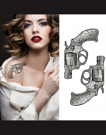 1 Sztukzestaw Mała Pełna Kwiat Arm Wodoodporna Tymczasowy Tatuaż Naklejki Fox Sowa Dla Kobiety Mężczyźni Body Art
