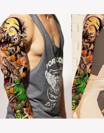 Pełna Ramię Kwiat Tatuaż Naklejki Wodoodporne Tymczasowe Tattoo Rękaw Mężczyźni Kobiety Malowania Ciała Fałszywe Tatoo