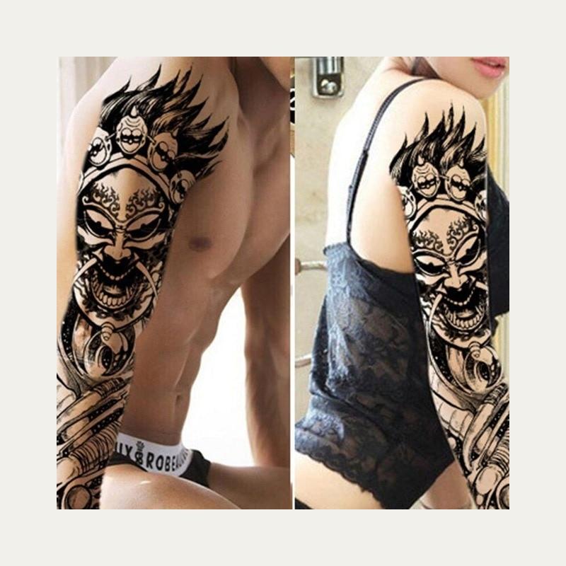 Pełna Ramię Kwiat Tatuaż Naklejki Wodoodporne Tymczasowe