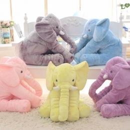 40 cm/60 cm Wysokość Duży Pluszowy Słoń Lalki Zabawki Dzieci Śpiąca Poduszka Słodkie Nadziewane Słoń Dziecko Towarzyszyć lalka X
