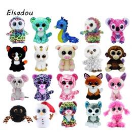 Ty Beanie Boos Słoń i Małpa Pluszowe Lalki Zabawki dla Dziewczyna Królika Lisa Cute Zwierząt Sowa Unicorn Kot Biedronka Z tag 6