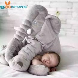 BOOKFONG 40/60 cm Niemowlę Pluszowy Słoń Słoń Playmate Miękkie Uspokoić Calm Doll Zabawki Dla Dzieci Słoń Poduszki Pluszowe Zaba