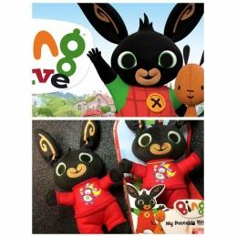 Cartoon bing pluszowe zabawki królik lalki zabawki wypchanych zwierząt miękkie lalki zabawki dla dzieci prezenty UK anime animac