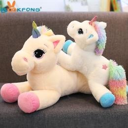 BOOKFONG 40-60 cm Jednorożec Pluszaki Pluszowe zabawki Jednorożec Konia Zwierząt Wysokiej Jakości Cartoon Prezent Dla Dzieci