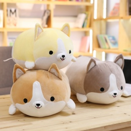 30/45/60 cm Śliczne Corgi Pies Pluszowe Zabawki Wypchane Miękkie Zwierząt Cartoon Poduszki Piękny Prezent Na Boże Narodzenie dla