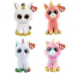 """Ty Beanie Boos Unicorn Plush Zwierząt Zabawki Lalki Z Tagiem 6 """"15 cm"""