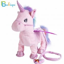 Babiqu 1 pc Elektryczny Walking Unicorn Zabawka Pluszowa Wypchanych Zwierząt Zabawki Muzyka Elektroniczna Unicorn Zabawka dla Dz