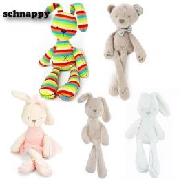 Cute Easter Bunny Miękkie Pluszowe Królik Wypchanych Zwierząt Zabawki Uspokoić Dziecko Łóżko Poduszki Zabawki Dla Dzieci baby Gi