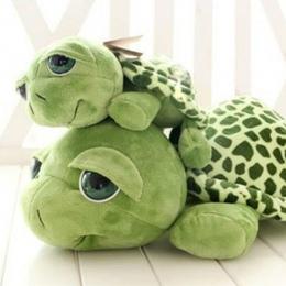 2018 Nowy przyjeżdża 20 cm Zieleń wojskowa Wielkie Oczy Turtle Pluszowe zabawki Żółw Żółw Lalki Dla Dzieci, Jak Urodziny Christm